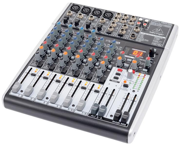 el sonido en la Mesa de mezclas Behringer Xenyx X1204 con salida USB
