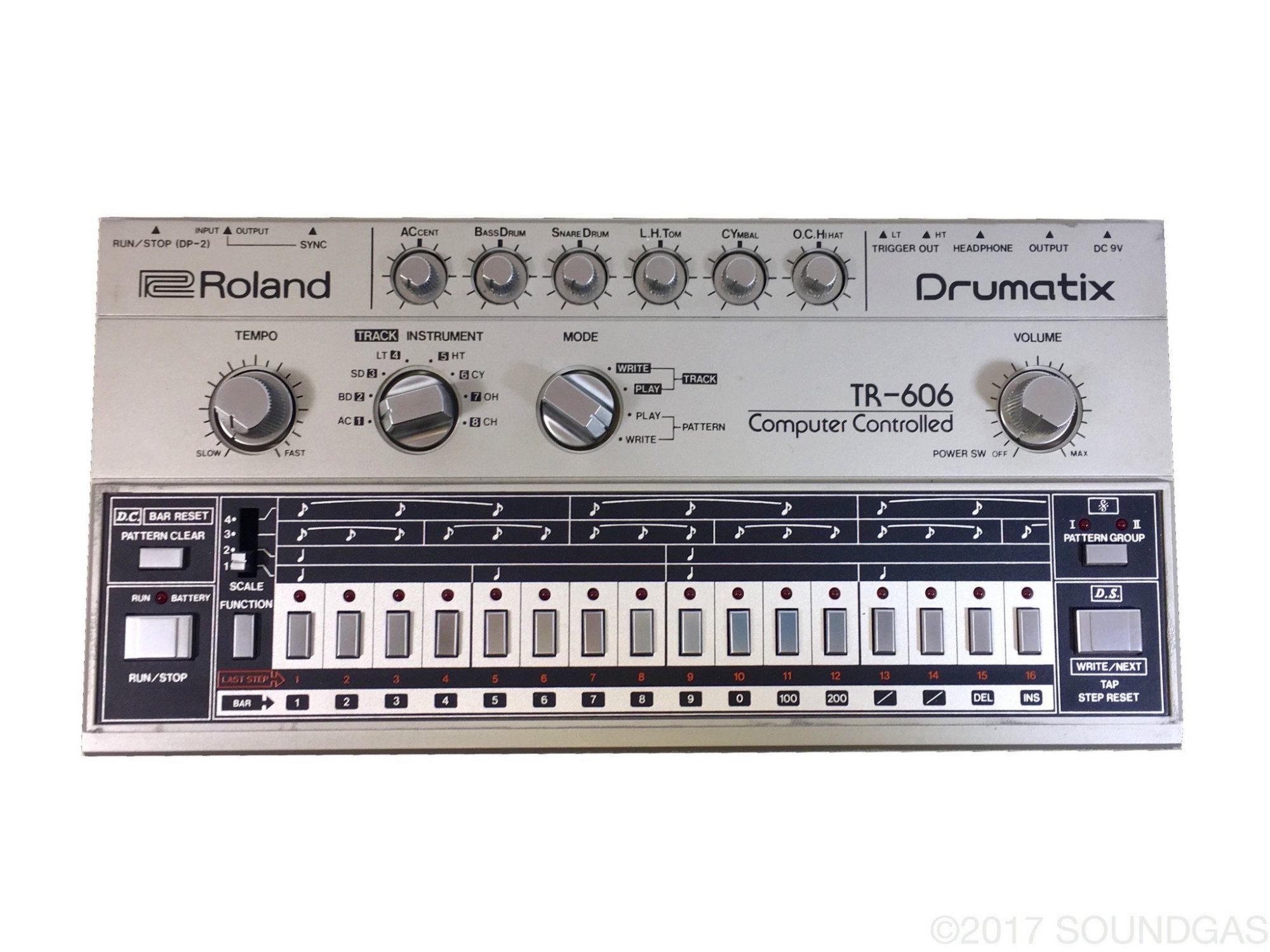 analizando sweet dreams de eurythmics  Roland TR-606 Drumatix