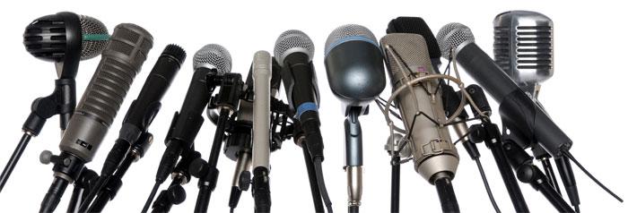 Colección de micrófonos